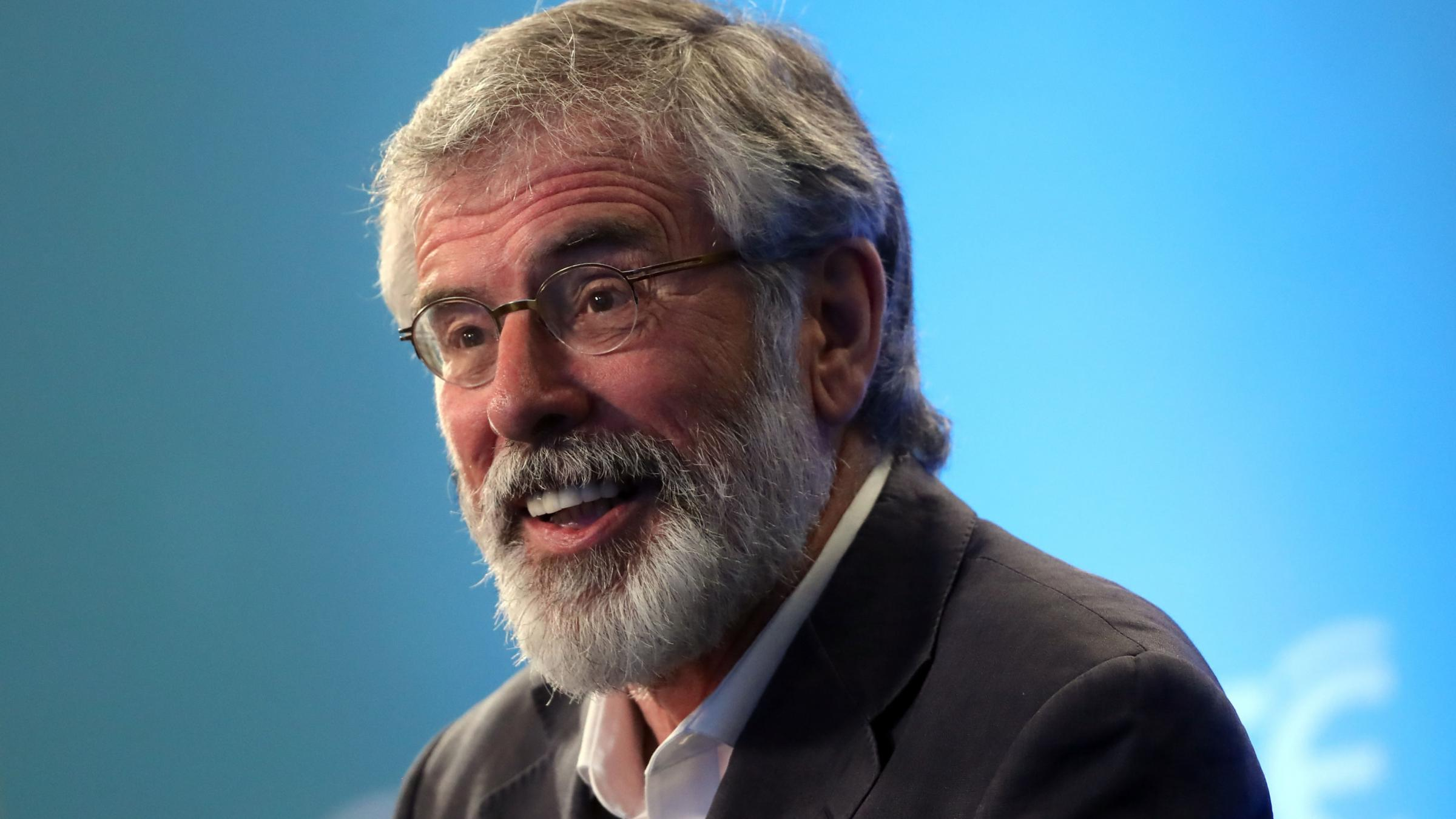 Theresa May will meet with Sinn Fein's Gerry Adams today